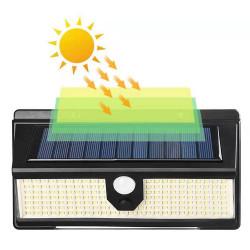 Set 3 x Lampa solara cu 190 LED-uri, 3 moduri de iluminare, waterproof IP65