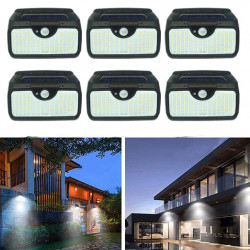 Set 6 Lampi solare 107LED, senzor de miscare