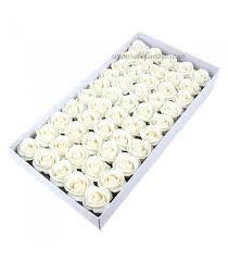 Set 50 trandafiri de sapun, alb