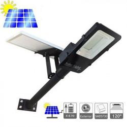 Proiector LED , 100 W cu panou solar , water proof IP65, cu telecomanda si temporizator