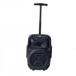 Boxa portabila pentru karaoke, tip troller cu microfon si telecomanda