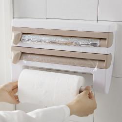 Dispenser triplu pentru bucatarie - aluminiu, folie stretch, hartie