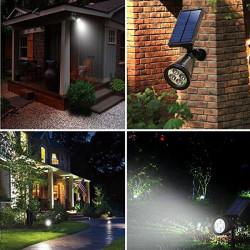 Proiector solar de exterior, cu leduri