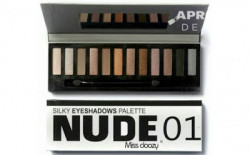 Set 12 pensule Make-up NKD 3 + Paleta Profesionala Cu 12 Farduri - Nude 01