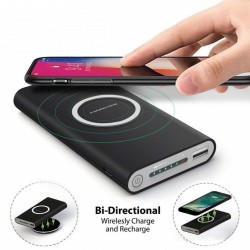 Baterie externa Wireless 10000 mAh pentru iPhone / Android, dual function