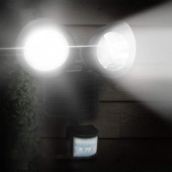 Lampa solara dubla cu senzor crepuscular si senzor de miscare