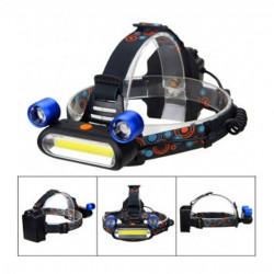 Lanterna de cap reglabila, 3 x LED COB, 3 moduri de iluminare