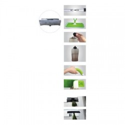 Spray mop Grunberg 2 in 1 cu racleta pentru geamuri