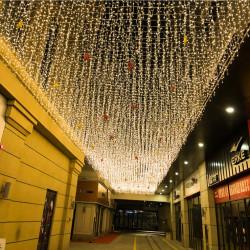 Instalatie craciun 48 m, 1120 leduri ploaie lumini, interconectabila