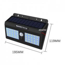 Lampa solara dubla de perete, 40 leduri si senzor de miscare