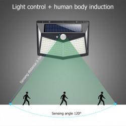 Set 4 Lampi solare 212 LED, senzor de miscare si 3 moduri de functionare