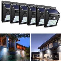 Set 6 x Lampa 30 Led cu incarcare solara si senzor de miscare.