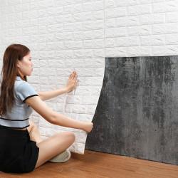 Tapet autoadeziv caramizi albe, 77 x 70 cm
