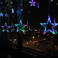 Instalatie 3 m, 12 stelute LED, Multicolora
