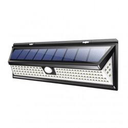Lampa solara cu 118 LED-uri, senzor de miscare PIR, 2200mAh, waterproof IP65