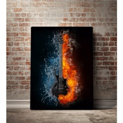 WATER AND FIRE ELECTRIC GUITAR