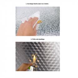 Folie de aluminiu autoadeziva pentru bucatarie 60x300 cm