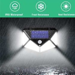 Set 4 Lampi solare 100LED, senzor de miscare