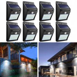 Set 8 x Lampa 30 Led cu incarcare solara si senzor de miscare.