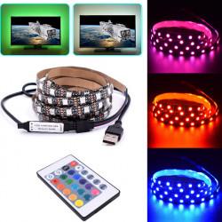 Banda LED USB RGBW cu telecomanda, 3metri
