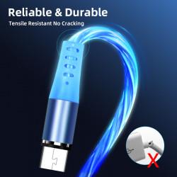 Cablu USB LED cu mufa magnetica