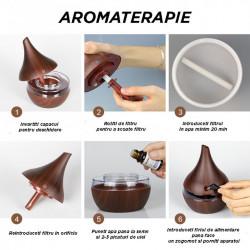 Difuzor aromaterapie Wood Grain + 2 uleiuri aromaterapie