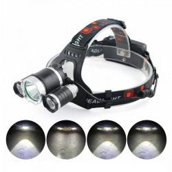 Lanterna frontala reglabila cu 3 LED-uri CREE