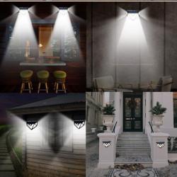 Set 3 lampi solare PREMIUM, 166 LED, senzor de miscare
