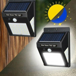 Set 4 x Lampa solara 40 LED cu senzor de miscare