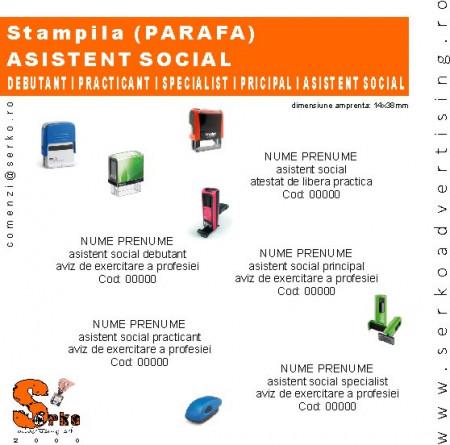 #Stampila (Parafa) Asistent Social