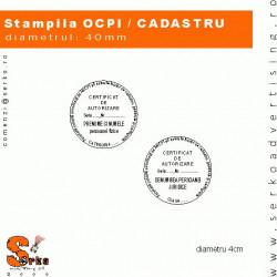 Stampila CADASTRU / GEODEZIE / CARTOGRAFIE / ANCPI / I.S.C.I.R.