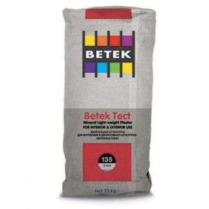 Betek Tect 135 - Tencuiala Minerala cu Fibre Polipropilena 3,0 mm
