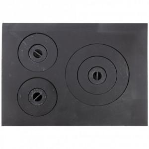 Plita Fonta 550 x 400 mm cu 3 ochiuri (1101)