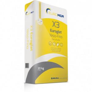 X3 - Euroglet Yeso-Fino - Glet Ultrafin pentru Finisaje Fără Şlefuire