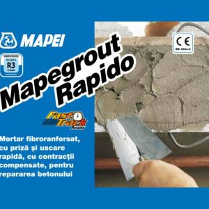 Mapegrout Rapido - Mortar cu Priza si Intarire Rapida pentru Repararea Betonului 25 kg