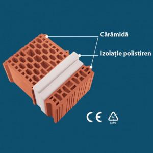 Sistermo S40 - Caramida cu Izolatie de Polistiren cu Rezistenta Termica Mare (290x395x188)