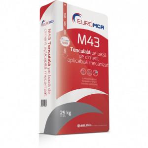 M43 Tencuială pe Bază de Ciment Aplicabilă Mecanizat sau Manual - 30 kg