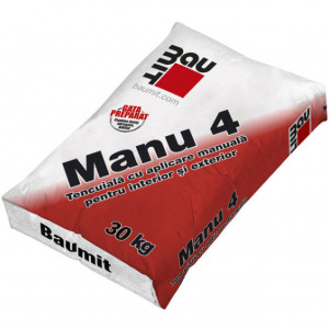 Baumit Manu 4 - Tencuiala Manuala Var-Ciment pentru Interior si Exterior