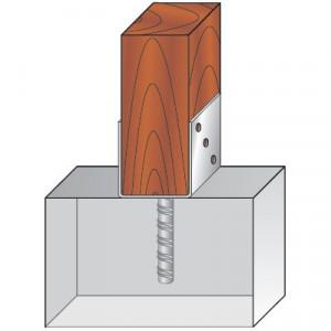 Consola Stalp Reglabila 60 - 136 mm cu Tija pentru Betonare D-TCR