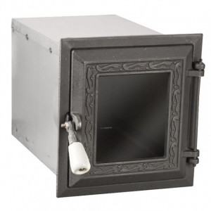 Cuptor Soba cu Usa din Fonta cu Geam 330 x 210 x 230 mm