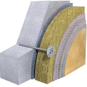 Termosistem cu Vata Bazaltica KNAUF FKD-S 10 cm λ=0,035 W/mK /mp