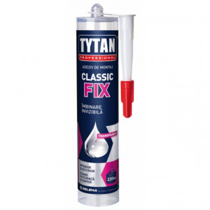 Classic Fix - Adeziv Universal de Montaj pentru Lemn, Plastic, PVC, Sticla, Metal - Tub 310 ml.