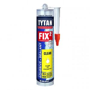Tytan Fix2 CLEAR - Adeziv Montaj Transparent, Rapid si Foarte Puternic - Tub 280 ml