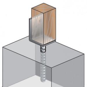 "Consola Stalp Forma ""L"" cu Tija pentru Betonare D-TL"