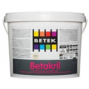 Betek Betakril - Vopsea Lavabila Mata de Exterior
