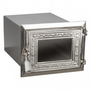 Cuptor Soba cu Usa din Fonta Nichelata cu Geam 390 x 270 x 195 mm