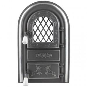 Usa Soba cu Geam Cerbi si Ornamente Argintii 345 x 555 mm
