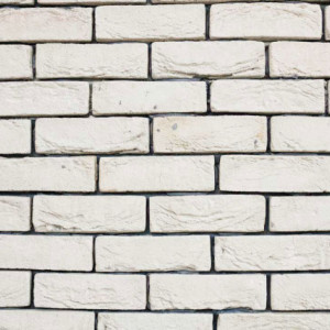 Caramida Aparenta Antichizata Bizantin White (210 x 65 x 20 mm)