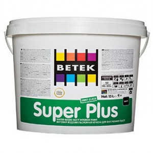 Betek Super Plus - Vopsea Superlavabila Mata de Interior