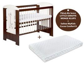 Patut KLUPS Little Giraffe Wenge + Saltea 10 MyKids Confort II